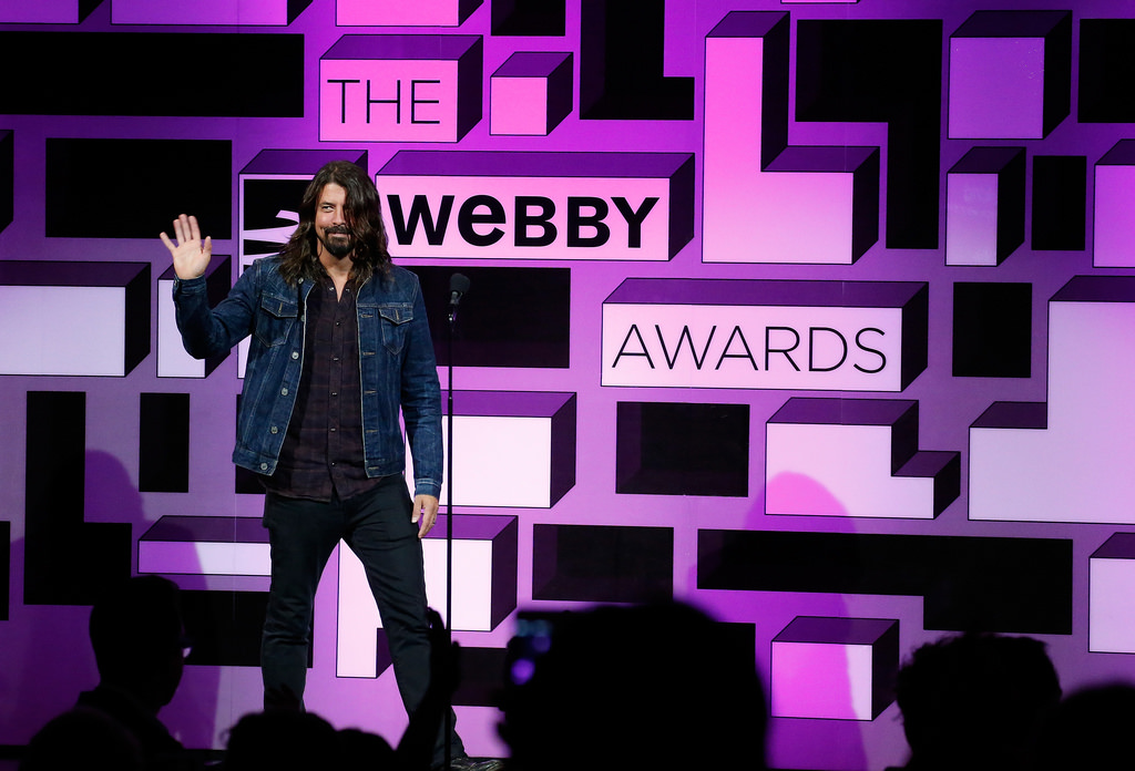 Dave Grohl onstage at The 19th Annual Webby Awards.