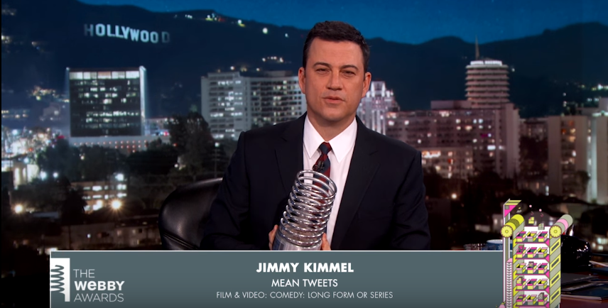 Jimyy Jimmel's 5-Word Speech at the 19th Annual Webby Awards