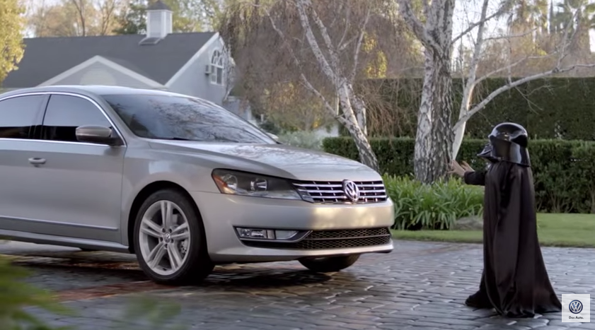 The Force by Volkswagen is your 2nd favorite YouTube ad of the decade