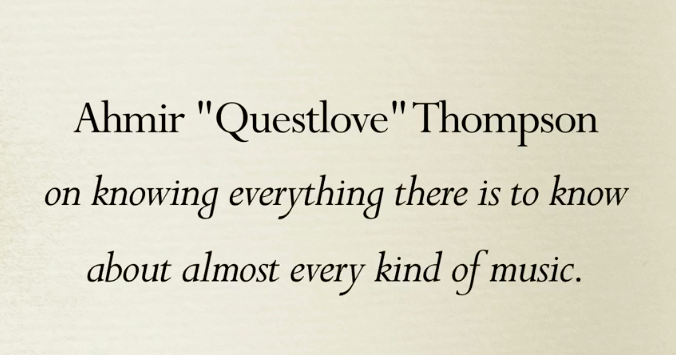 The Snob's Dictionary Questlove
