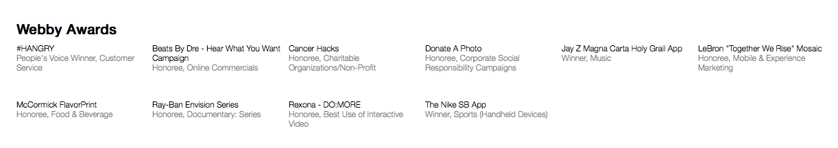 Like The Weather Channel and TripAdvisor, R/GA Places Their Webby Win Among Their Highest Honors