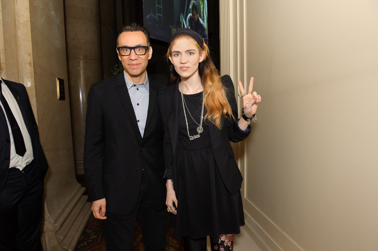 Grimes & Fred Armisen at the 17th Annual Webby Awards