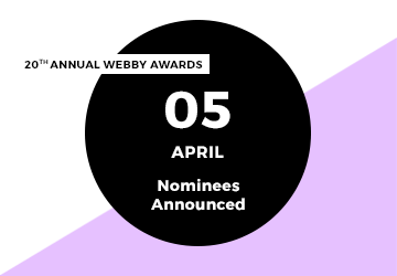 20th Annual Webby Awards Nominees Announced