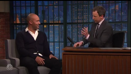 Seth Meyers Congratulates Derek Jeter on his Webby Win