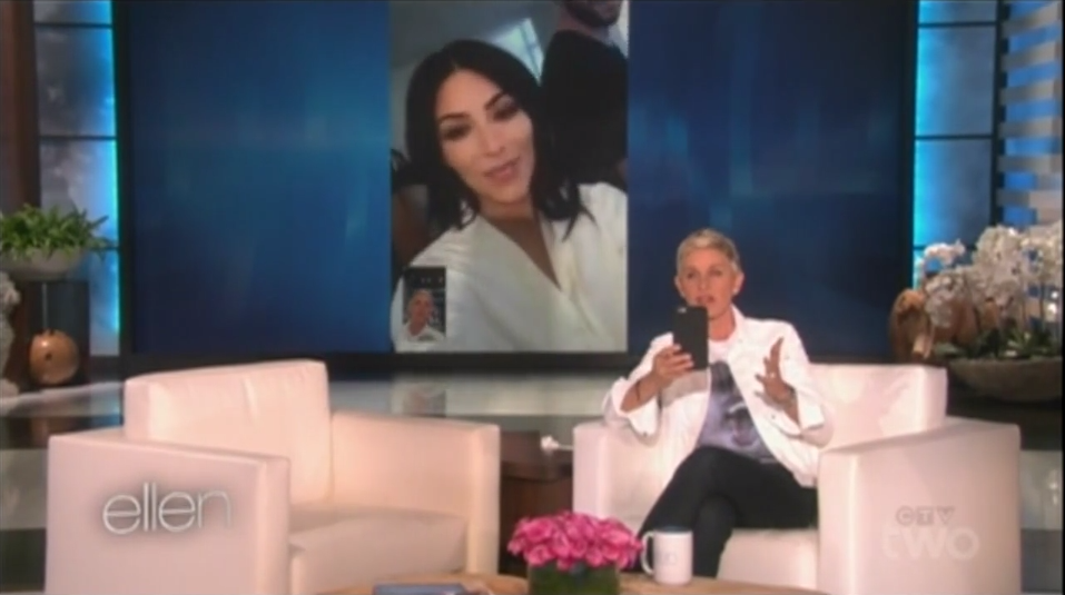 Kim Kardashian West FaceTimes Ellen for 5-Word Speech Advice